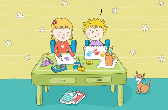 贴了英语的卧室动漫图片