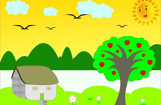 卡通苹果树矢量图片大全