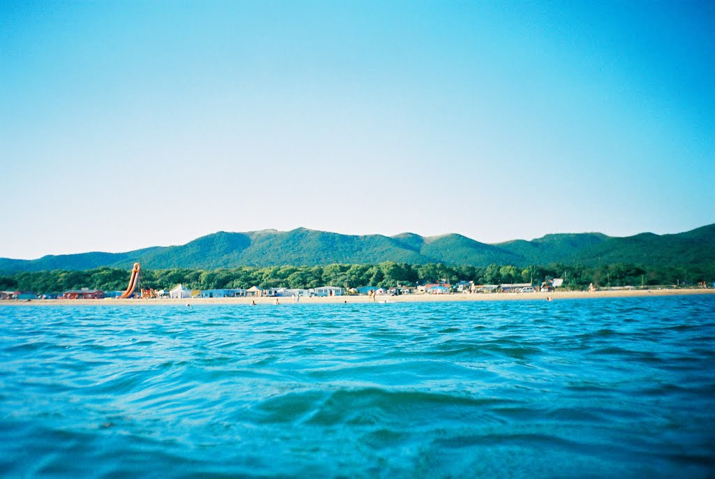 描写沙滩风景的句子
