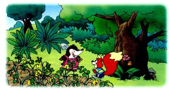 一年级语文上册《小松鼠找花生》课文图片