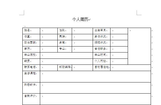 个人简历表格(一)[DOC格式]_电子书下载库_新
