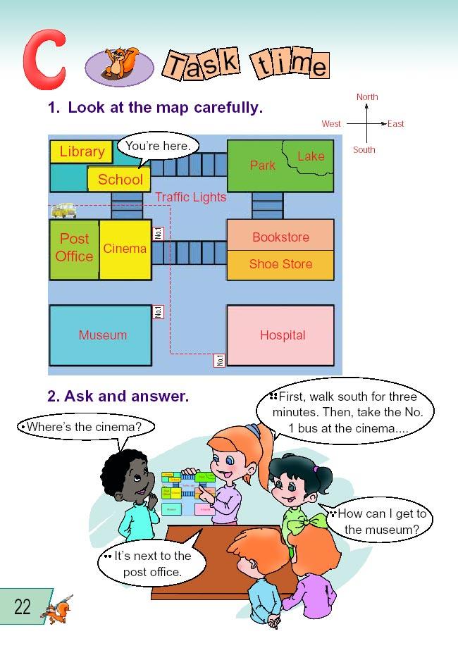 人教版pep小学英语六上册有偿Unit2WhereIs严禁v人教年级中小学图片