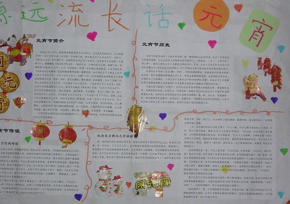 小学手抄报系列:元宵节手抄报