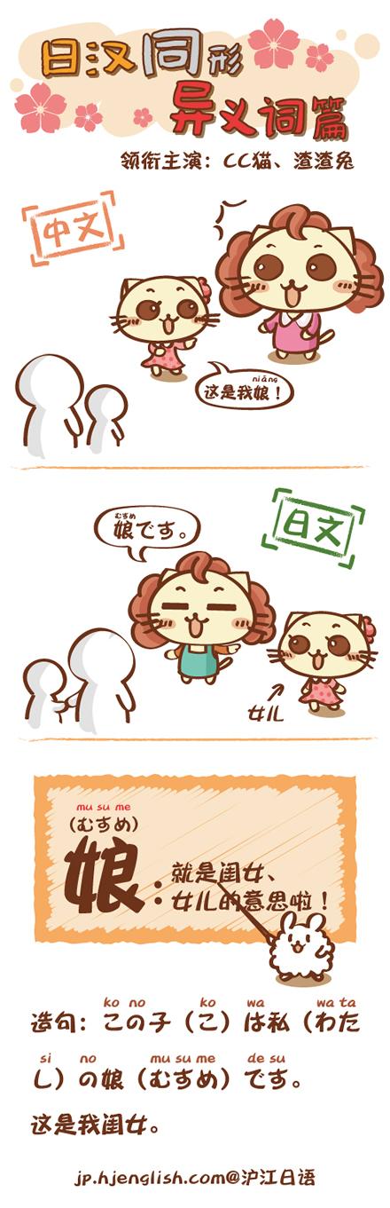 """这个 竟然 日文 意思/""""娘""""在中文中一般是指""""母亲"""",读作""""niáng""""。..."""