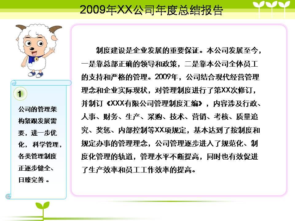 公司年度总结报告模板ppt下载