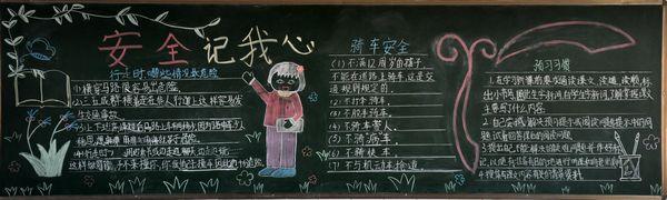 幼儿园安全教育黑板报图片-打印版式图片