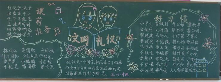 文明礼仪黑板报(3)_四年级课外阅读_沪江小学资源网-.