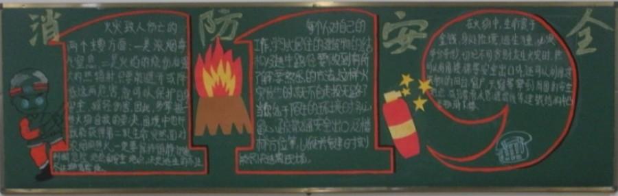 消防安全黑板报图片欣赏 2
