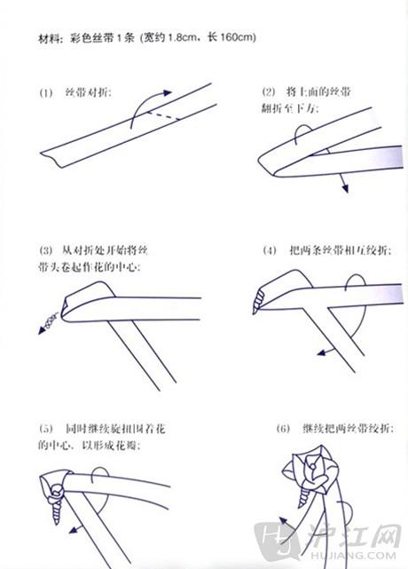 diy小饰品玩具制作:丝带玫瑰