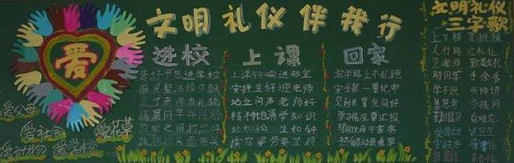 文明礼仪黑板报(2)