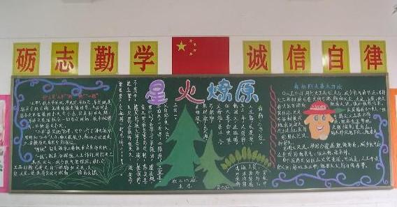 森林防火广告牌简笔画
