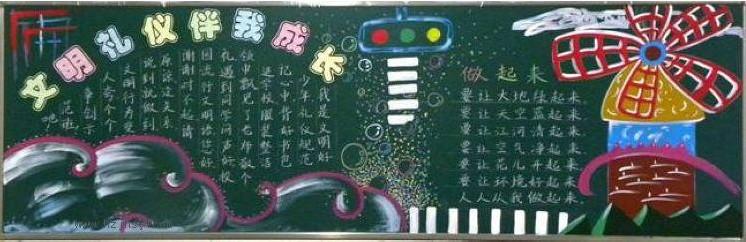 文明礼仪黑板报(1)