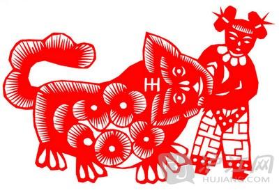 chinese art:traditional paper-cutting传统剪纸(jián zhǐ )