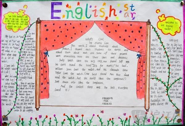 初中生优秀英语手抄报图片