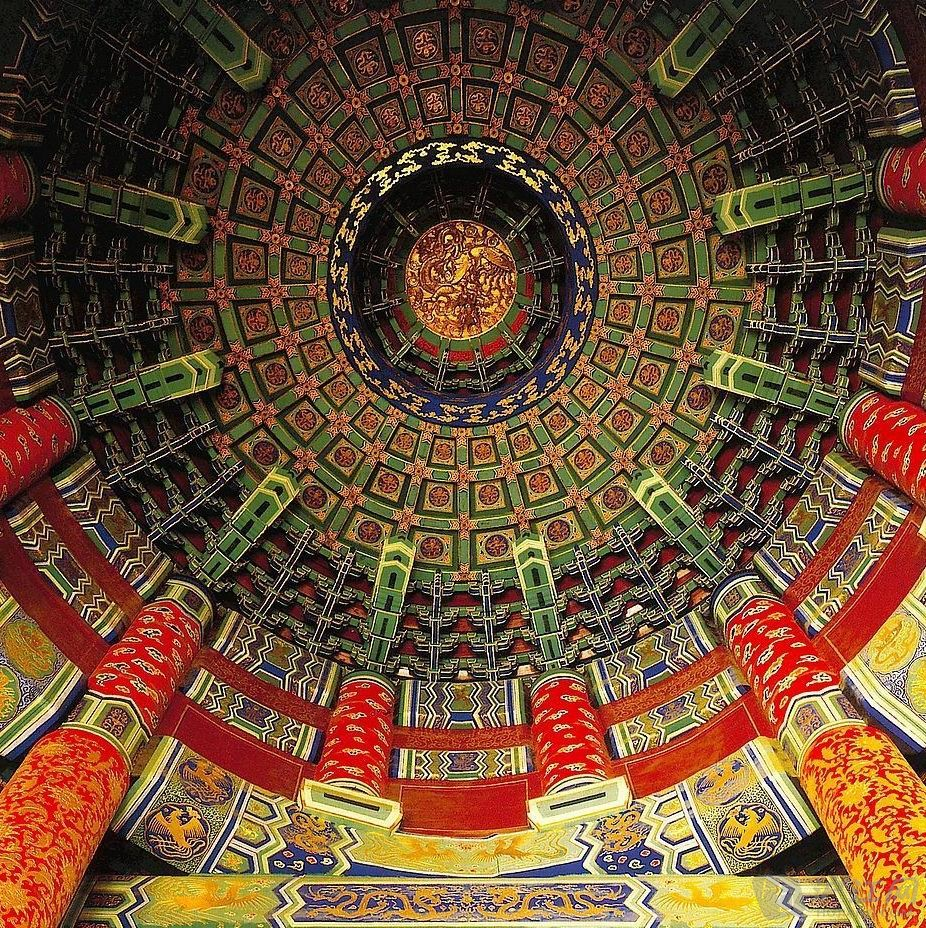 chinese architecture : caisson ceiling 中国建筑之藻井_learn