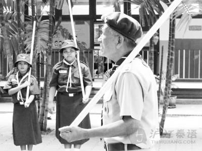 泰國的童子軍。資料圖片