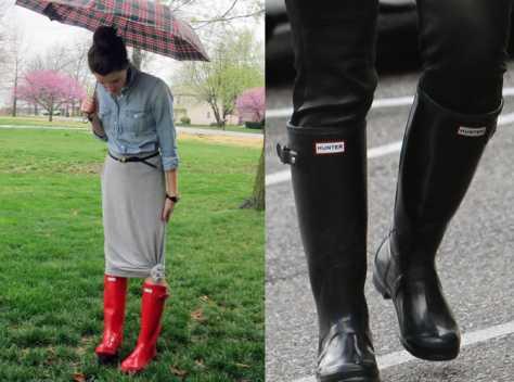 穿雨鞋图片