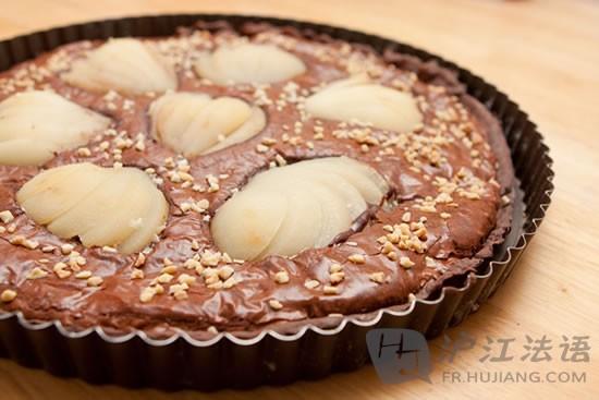 法国美食:巧克力生梨派Tartechocolatpoires_英朝阳岑溪美食电话号码图片