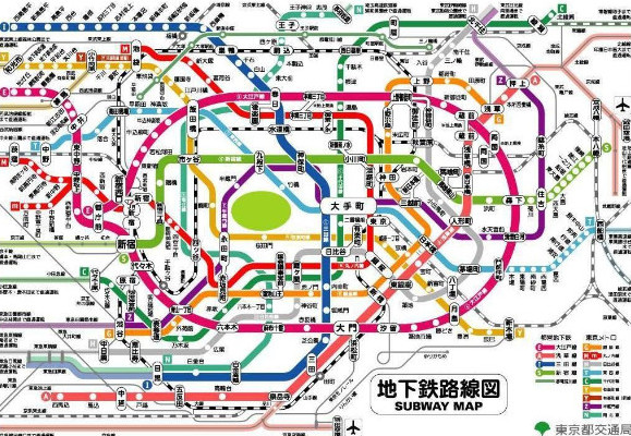 日本旅游:东京地铁路线图[pdf格式]