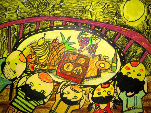 中秋节儿童画(三)