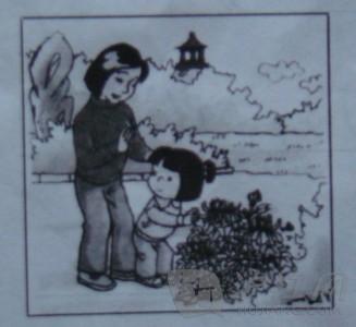 二年级看图写话图片及范文:不要摘花