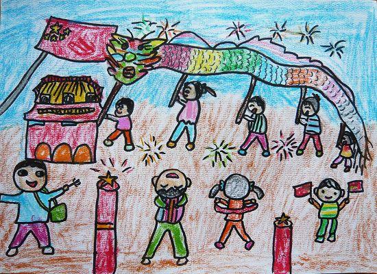 国庆节儿童画:(一)
