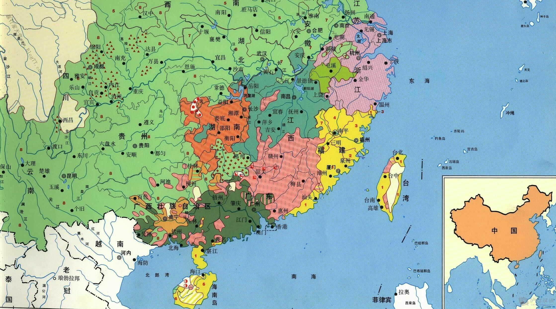 segment of Chinese dialects 中国方言分部