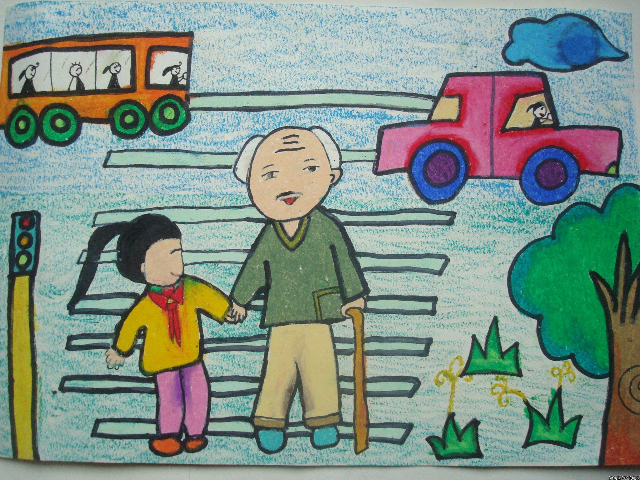 重阳节儿童画(三)