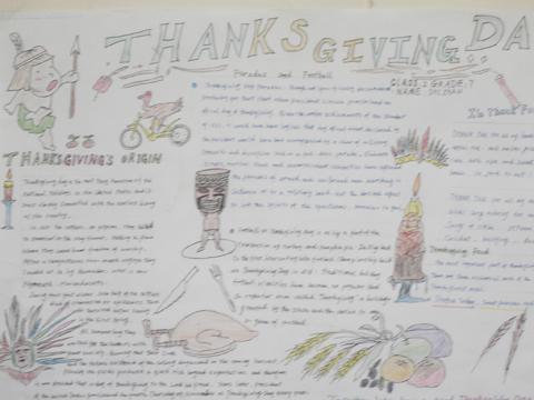 感恩节英语手抄报 二图片