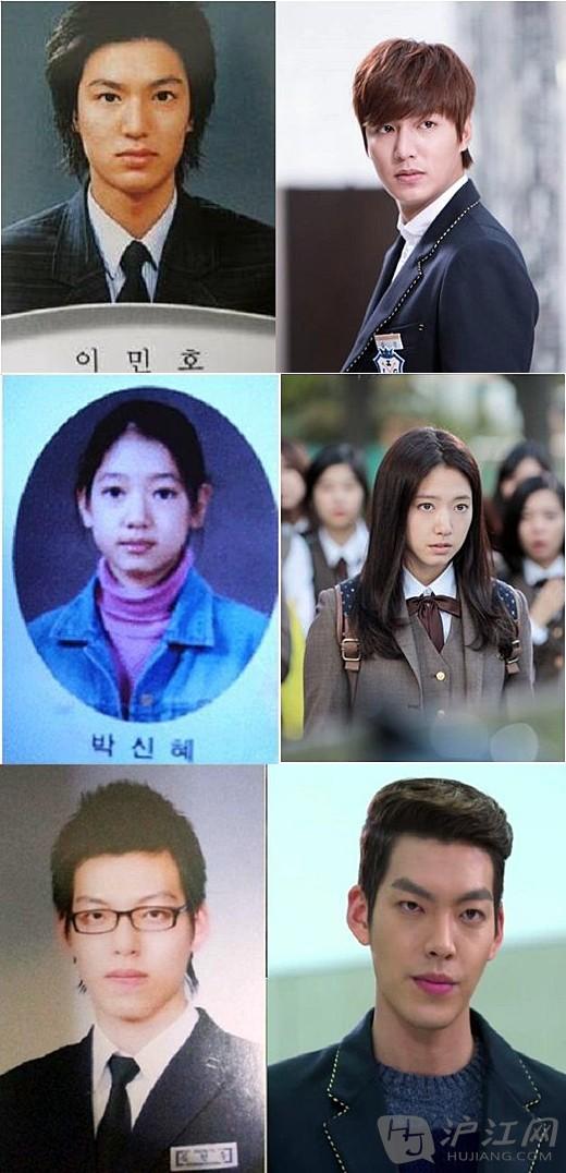 照片中,李敏镐有着现在一样立体的五官,让人联想起《继承者们》中富二图片