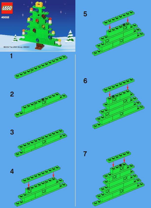 趣味益智乐高拼装图纸:圣诞树