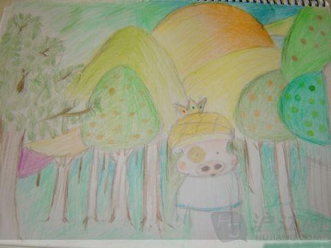儿童画欣赏(动漫人物简笔画)-打印版式