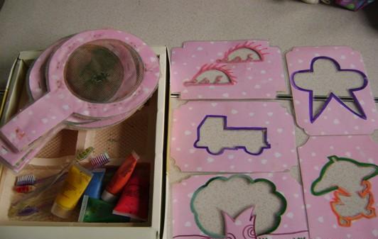 幼儿园手工制作:刷画游戏