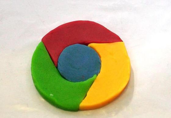 小学生手工制作大全(2):用粘土打造3d版浏览器logo