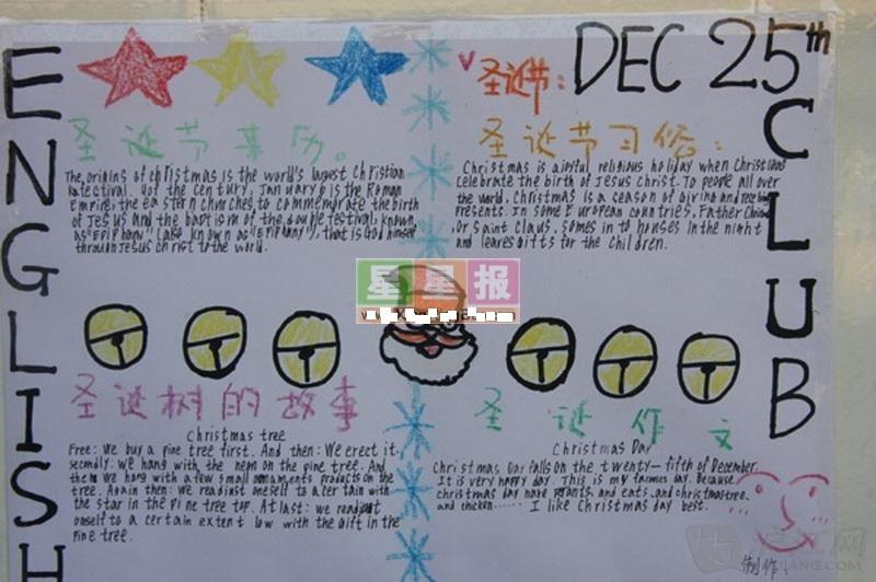 圣诞节英语手抄报图片