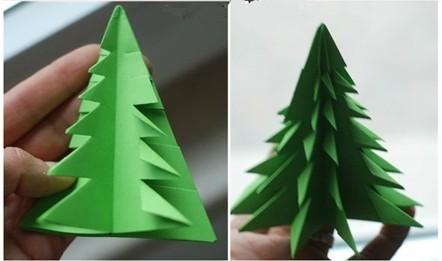 折纸圣诞树_豆你玩学堂