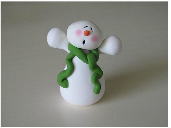 橡皮泥捏出圣诞节小人儿