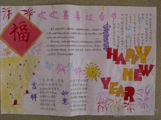 春节手抄报资料:春节踩祟习俗图片