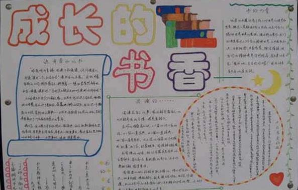 书香校园手小学抄报初中生_书香校园绘画图片