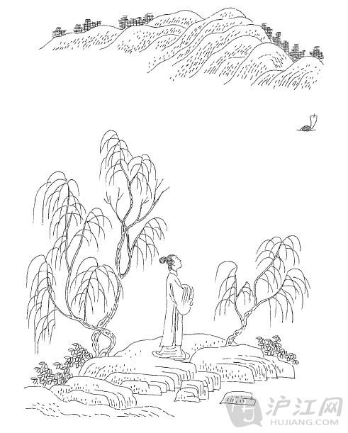 """【作品简介】 《清平乐·留人不住》由晏几道创作,被选入《宋词三百首》。这是一首描写别情离怨的词。上阕写送者,""""留人不住"""",已自念怨,""""一棹""""而""""过尽"""",离人匆匆,全无留意,可见其人无情。然而送行的女子依然在渡头发呆,杨柳枝枝叶叶,也都含有离情。"""