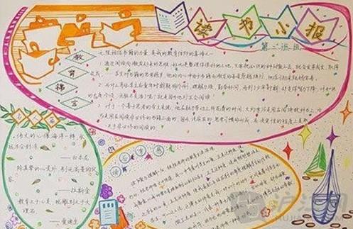 读书手抄报:读书小报_三年级课外阅读_沪江小学资源网