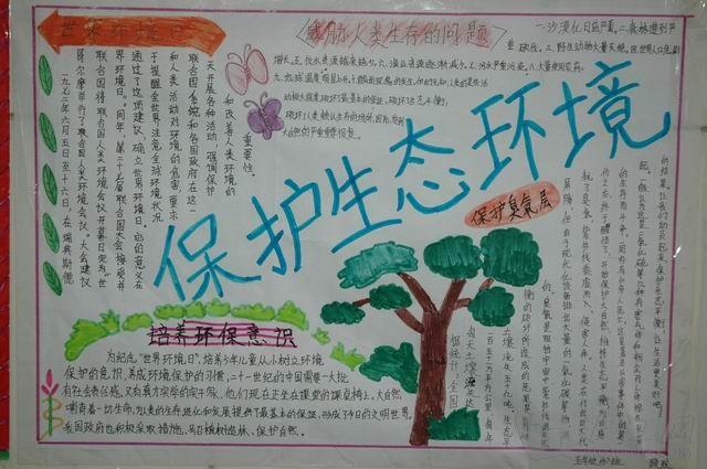 环保手抄报:保护生态环境