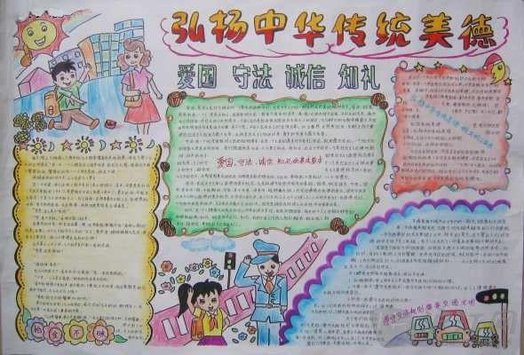 小学手抄报系列:传统美德主题手抄报(6)