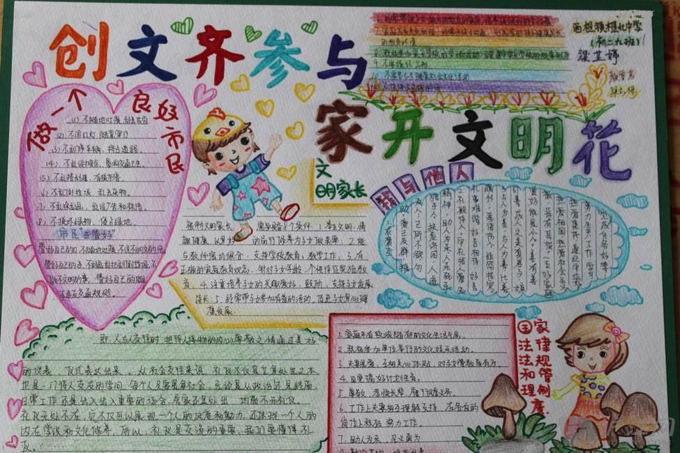 小学手抄报系列:文明主题手抄报(9)