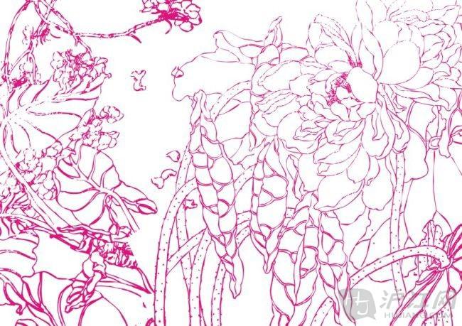 这是一幅鲜花的简笔画,绘画精美,线条优美,颜色鲜艳!
