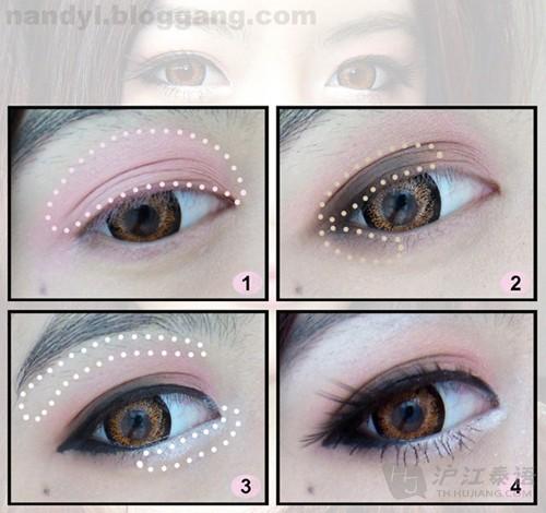 要是想画眼线的朋友不妨试一下双眼线的方法
