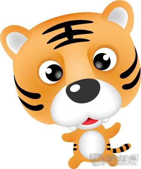 老虎简笔画:老虎和鸟