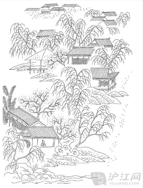 就这样,用简单几句,既画出了一幅很有生活气息的农村画图;又记下