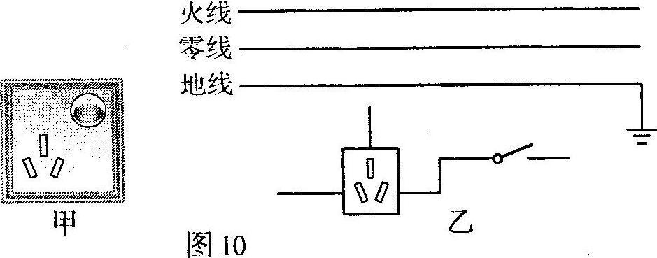 三孔插座接线图物理