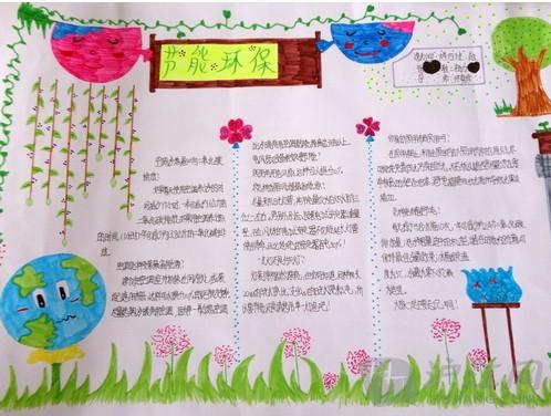 小学生环保手抄报:节能环保知识